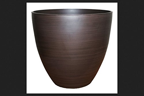 - Southern Patio Teawood Ceramic Egg Planter 18 in. W
