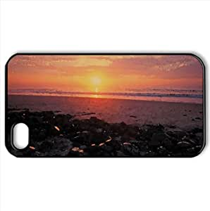 Ocean Sunsrise Watercolor style Cover iPhone 4 and 4S Case (Beach Watercolor style Cover iPhone 4 and 4S Case)