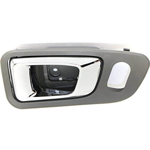 - Interior Door Handle compatible with Honda Pilot 03-08 Front RH Inside Chrome and Gray Plastic