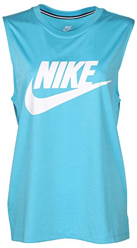 Nike Women's Signal Muscle Sport Casual Tank Top-Omega Blue-Large