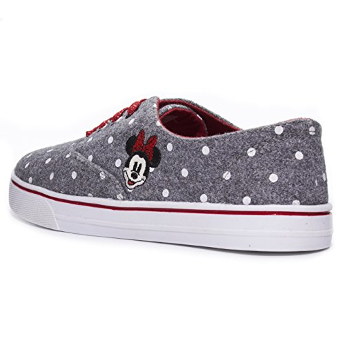 Disney Junior Teen Girls Low Top Mickey and Minnie Fashion Sneakers (See More Designs and Sizes) Grey qjnvgES