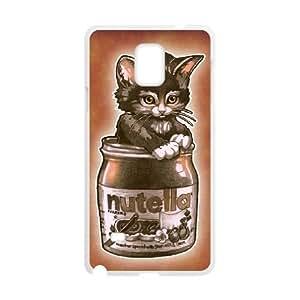 Kitten Loves Nutella Samsung Galaxy Note 4 Cell Phone Case White JNC56842