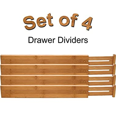 Bamboo Custom Fit Drawer Dividers (4)