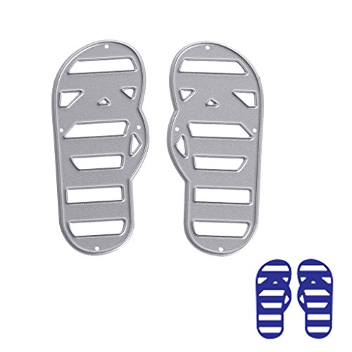 JUA PORROR Flip Flop Cutting Dies Stencils DIY Scrapbook Album Paper Card Embossing Craft (Flip Flops Die Cut)
