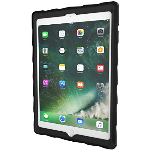 Gumdrop DropTech Clear Case Designed for the Apple iPad 9.7 (6th Gen and 5th Gen) Tablet for K-12 Students, Teachers, Kids - Black/Red, Shock Absorbing, Rugged, Extreme Drop Protection (12 Gums Gum)
