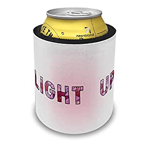 Slap Can Coolers Light Up Purple Stained Glass Insulator Sleeve Covers Neonblond