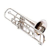 TROMBONE Bb PITCH NICKEL SILVER FOR SALE WITH FREE HARD CASE AND MP