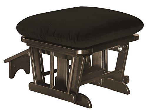 Shermag Glider Ottoman with Footrest, Espresso Chocolate
