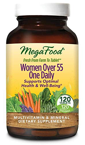 MegaFood – Women Over 55 One Daily, Multivitamin Support for Healthy Energy Production and Strong Bones with Vitamins C and D3, and Methylated Folate, Vegetarian, Gluten-Free, Non-GMO, 120 Tablet Review
