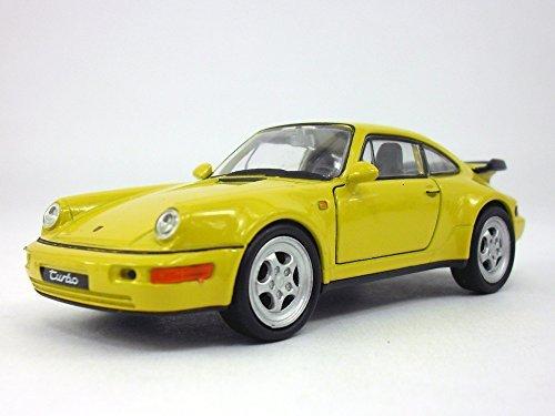 4.5 inch Porsche 911 / 964 Turbo Scale Diecast Model by Welly - Yellow - Porsche 911 Turbo Gt3
