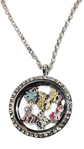 My Little Pony Jewelry (My Little Pony Characters Round Crystal Floating Charms Locket)