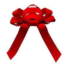 CarBowz Big Red Car Bow, Giant Bow, Non Scratch Magnet, Weather Resistant Vinyl, Fully Assembled