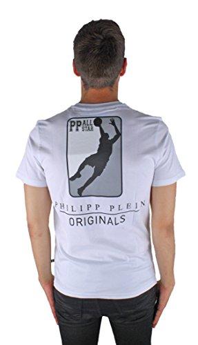 Philipp Plein Olive MTK0324 01 White Herren T-Shirt wei�