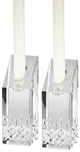 Waterford Candle Holders, Set of 2 Lismore Essence Candlesticks 8""