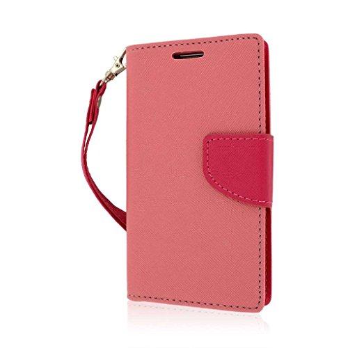 LG Optimus L70 Wallet Case, MPERO FLEX FLIP 2 Wallet Stand Case for LG Optimus L70 / Realm MS323 LS620 - Pink