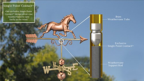 Good Directions Galloping Horse Weathervane, Pure Copper by Good Directions (Image #2)