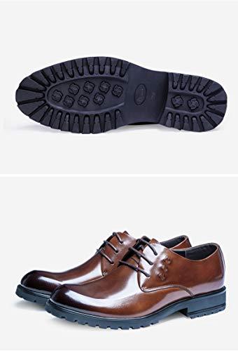 con Casuales Zapatos Brown Cordones de para Casuales Hombres de Oxford Zapatos EU Zapatos 38 Size Planos Color Negocios Cuero Yao Pw5CqEP