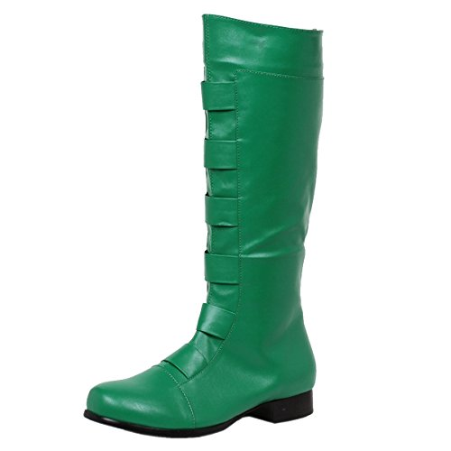 Green Lantern Costumes For Sale (Mens Knee High Boot Green Costume Boots Round Toe 1 Inch Heel MENS SIZING Size: Medium)