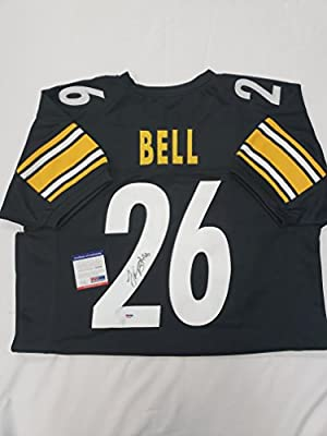 best website aaf6c 2d8a7 LeVeon Bell Signed Pittsburgh Steelers Jersey at Amazon's ...