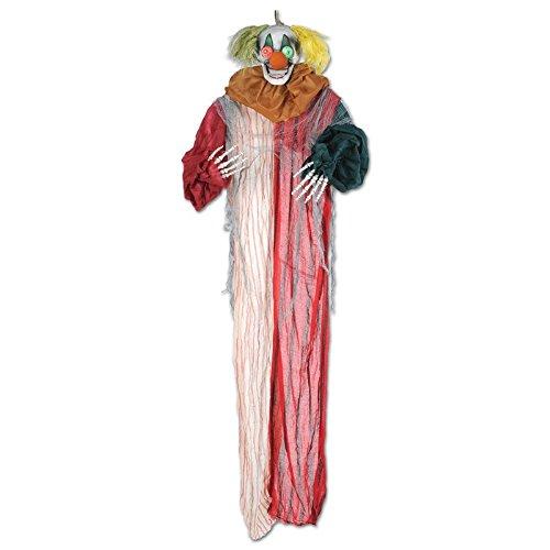 Party Central 6.5' Posable Creepy Clown Skeleton Creature Halloween Decoration ()