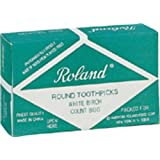 Roland Round Wooden Toothpicks, 800-Count (Pack of 2)