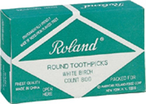 Price comparison product image Roland Round Wooden Toothpicks, 800-Count (Pack of 2)