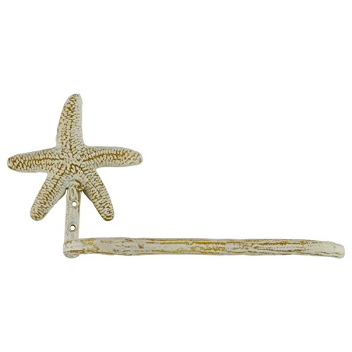 Wall Mount Metal Starfish Toilet Paper TP Roll Holder Nautic