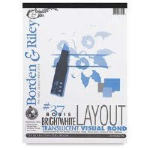 Borden & Riley Boris Layout Paper for Markers, 11  x 14 , 50 Sheets