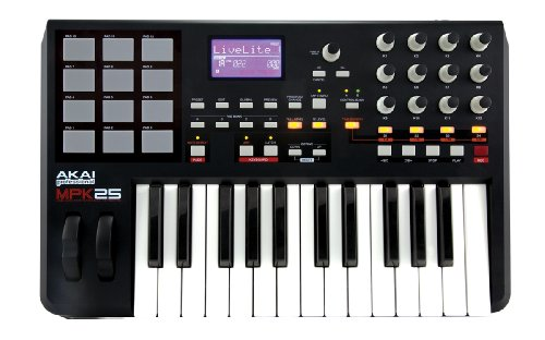 Akai MPK25 USB/MIDI Performance Keyboard with MPC drum pads by Akai