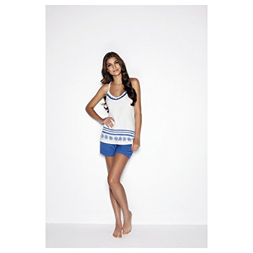 PROMISE - Pijama 8032, mujer, color blanco, talla xl