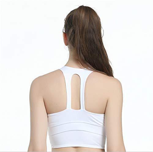 Yoga White Medio Donne Del Reggiseno Sportivo Maglia Sostegno Bianjesus Di Della Delle Y6w7P