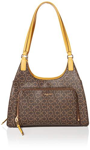 Calvin Klein Ava Saffiano Triple Compartment Hobo Shoulder Bag