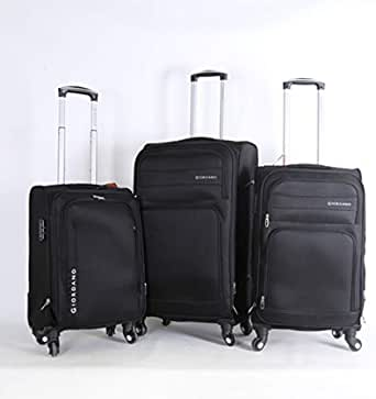Giordano Soft Case Trolley Bag - Set Of 3 Pieces, Black, Unisex