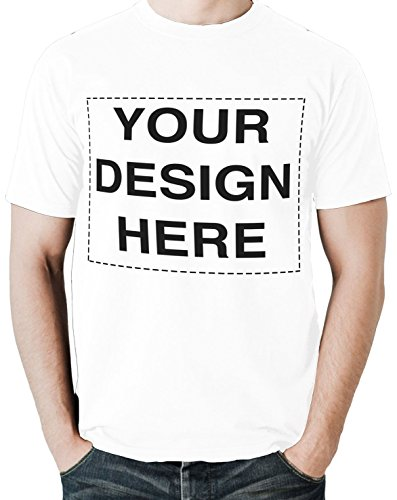 Custom Tshirts Design Your Own Text or Image Adult Unisex T-Shirt (XXX-Large, White)