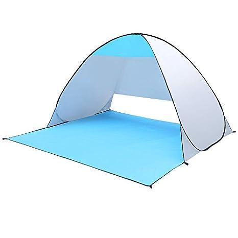 PerGrate Pop up tente, pliable rapide automatique portable plage tente étanche avec rideau soleil abris anti UV pour jardin extérieur de camping de pêche pique-NIC