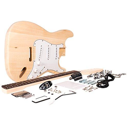 Seismic Audio – SADIYG-01 – Premium Strat Style DIY Electric Guitar Kit – Unfinished Luthier Project Kit