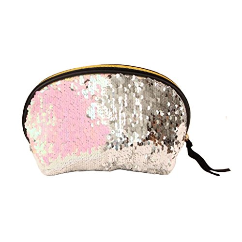 Double for Women Wallet Color Pink Bag Handbag Sequins Cluthes Lavany Women Zipper Bag txgq6Uwtf