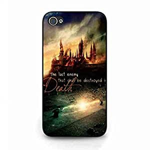 Unique Design Quotes funda caja del telefono celular for Iphone 4/4s,The last enemy that shall be destroyed is death Harry Potter funda caja del telefono celular American Movies Warner Bros. Iphone 4/4s Phone Cover