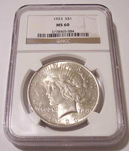 1923 Peace Silver Dollar MS60 NGC