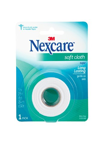 Nexcare Soft Cloth First Aid Tape, 1 Inch X 6 Yards (Nexcare Cloth Soft)