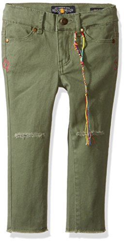 Zoe Jeans (Lucky Brand Big Girls' Zoe Torn Knee Jean in Stretch Denim Or Twill, Olivine, 12)