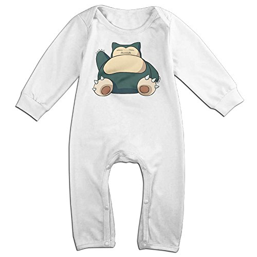 HOHOE Newborn Babys Hog Snorlax Long Sleeve Jumpsuit Outfits White 18 (Snorlax Infant Costume)