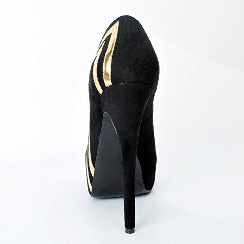 14 Tacchi Elegante Donna Kolnoo Pumps Handmade On Platform Alti Paillettes 5 Slip Scarpe cm nere Tacchi E7nFqxFH