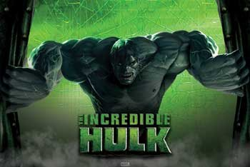THE INCREDIBLE HULK MOVIE POSTER Rare Hot New 24X36