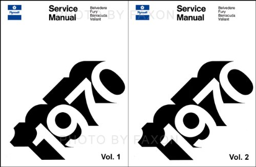 1970 PLYMOUTH 2 VOLUME SET REPAIR SHOP & SERVICE MANUAL & BODY MANUAL INCUDES: Fury, Sport Fury, Sport Fury GT, Road Runner, Belvedere, Satellite, Sport Satellite, GTX, Barracuda ('Cuda). 70