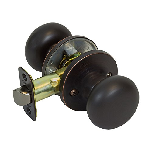 burton harbor round mushroom hall closet passage door knob oil rubbed bronze