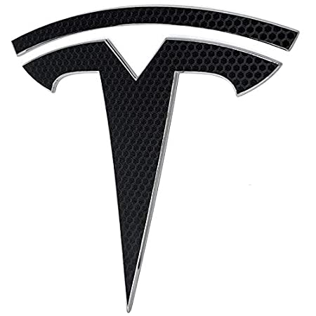 Gloss Flip Psychedelic - Silver//Rainbow Custom Cut Graphics Tesla Model 3 Logo Decal Wrap