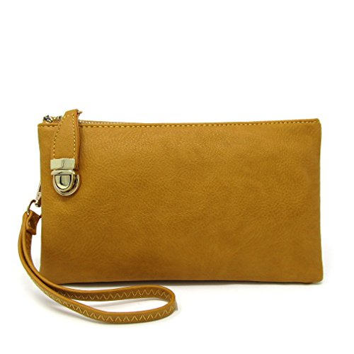 Functional Crossbody Multi Bag Shoulder Solene Womens Mustard Compartment Bag Iwp5tqF