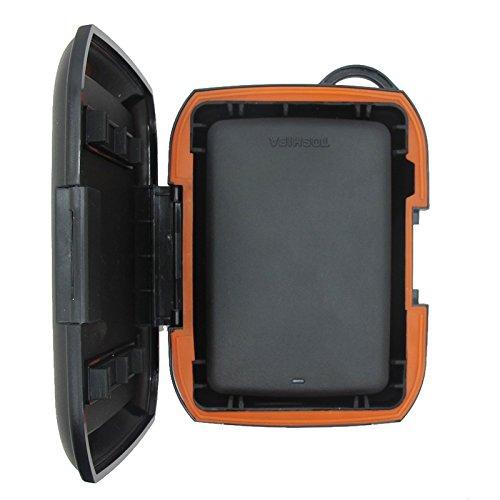 Khanka(TM) Black Plastic Nomad Rugged Protective Bag Case Cover Box For Toshiba Canvio Basics USB3.0 1TB Portable Hard Drive