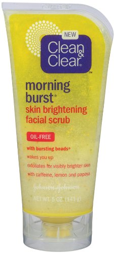 Clean & Clear Morning Burst Skin Brightening Scrub, 5-Ounce (Pack of ()